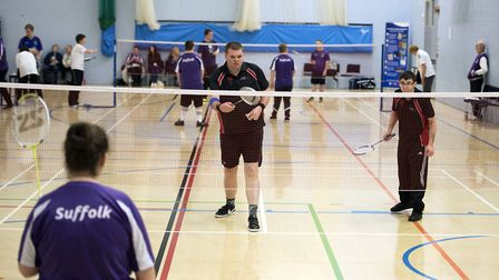 Suffolk Special Olympics badminton tournament at One in Ipswich. Picture: ASHLEY PICKERING