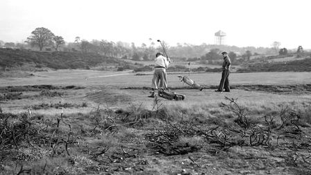 Golfers on Rushmere Heath in around 1949. Picture: DAVID KINDRED