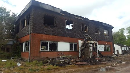 The scene at Manganese Bronze plant in Ipswich the morning after a fire tackled by firefighters over