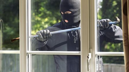 A man dressed in black tried to break into the home through the rear door (stock image). Picture: GE