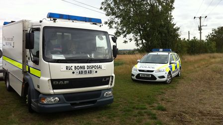 Bomb disposal experts exploded the device in a field. Stock picture