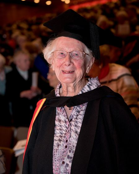 Freda is thought to be one of Britain's oldest graduates. Picture: CHRIS PERRY