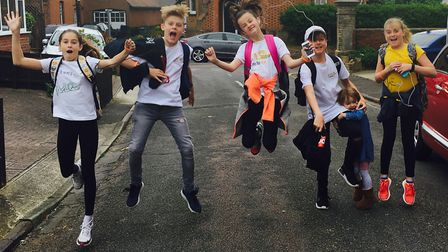 Holly Steward-Dark called on her family and a friend to join her on a walk from Felixstowe to Woodbr