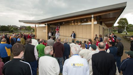 Opening of the new Ransomes Sports Pavilion on Sidegate Avenue, Ipswich by Mayor Cllr Roger FernCl