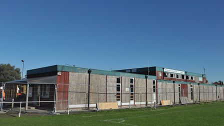 Awaiting demolition - the former clubhouse in 2014. Picture: SARAH LUCY BROWN.
