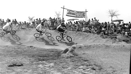 Riders would have to navigate tight banked turns which often are seen along BMX race tracks