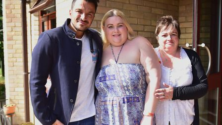 Zoe said it was her 'dream come true'd Peter Andre visited her at the St Elizabeth Hospice. Picture:
