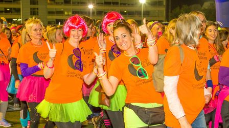 Setting off for last year's Midnight Walk. Picture: ST ELIZABETH HOSPICE