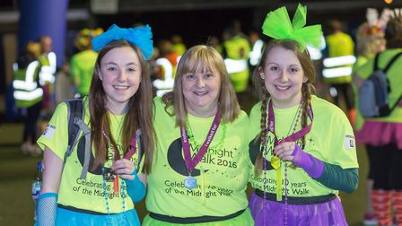 Colourful costumes made the evening bright as entrants took part in the Midnight Walk last year. Pic