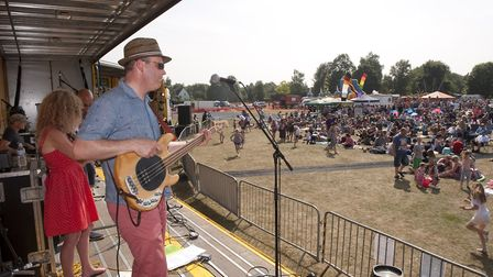Bury St Edmunds band, The Sea Creatures perform at Martlesham's Music on the Green - a festival whic