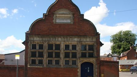 The front elevation of the former Ragged School building in Waterworks Street, Ipswich. Picture: IPS