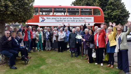 Dementia patients and their carers take a trip to Felixstowe during Dementia Awareness Week. Picture