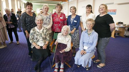 The East Suffolk Nurses League celebrate their 100th birthday at Ipswich Hospital. Pictured are the