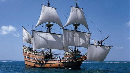 A replica of the Mayflower built in 1957