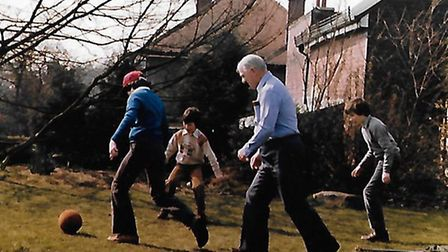 Jesse Webb enjoying a kick-about at 70. Picture: CONTRIBUTED