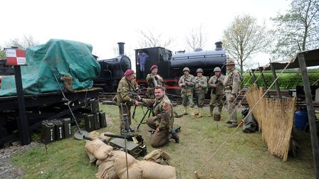 The Middy in the war years event at Mid Suffolk Light Railway at Wetheringsett.