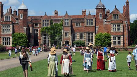 Kentwell Hall in Long Melford will be celebrating May Day with a Tudor event.