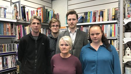 Volunteers and staff including manager Bob Ransome (far right) at the Sense charity shop in Upper Br