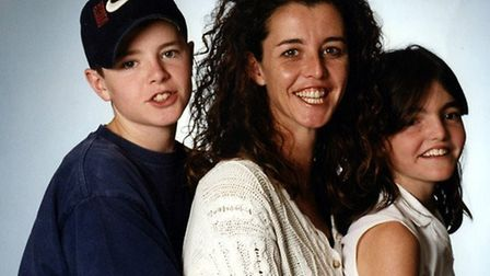 Luke Durbin as a youngster, with his mother Nicki and sister Alicia Durbin