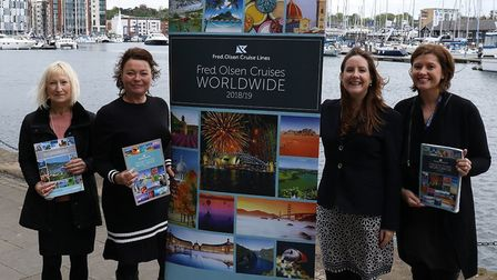(L_R) Carole Thain, marketing and communications manager for Suffolk MIND; Alison Edwards, Cystic Fi