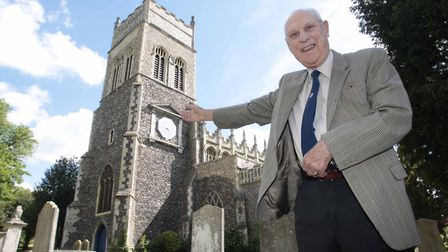 John Girt, of St Margaret's Church, has been hand winding the clock twice a week for 15 years. Pictu