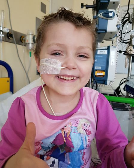 Little Hayley Bendall, now five, was diagnosed with cancer just a week before she was due to start s