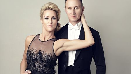 Natalie Lowe and Ian Waite, appearing in new tour Somewhere in Time. Photo: Contributed