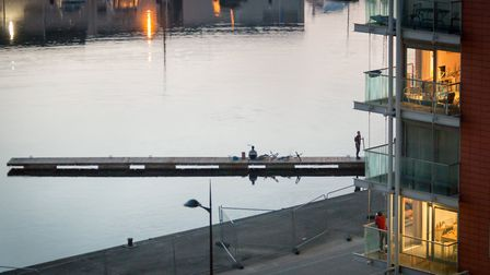 A pontoon floating in the River Orwell at the Ipswich Waterfront. Picture: TAMAS KONCSIK