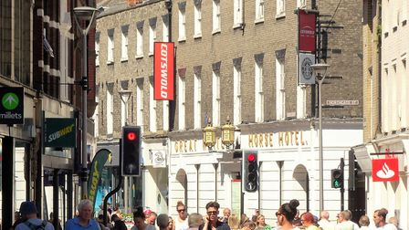 The former Great White Horse hotel, from Carr Street. Picture: JOHN NORMAN
