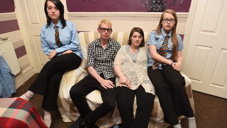 Left to right, Theresa Watson, Gareth Reynolds, Becky Watson and Faye Watson. Picture: GREGG BROWN