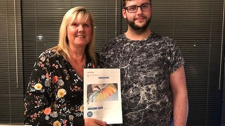 Basepoint Ipswich manager Alison Morrissey and son Ryan Pitcher who are doing a skydive for charity