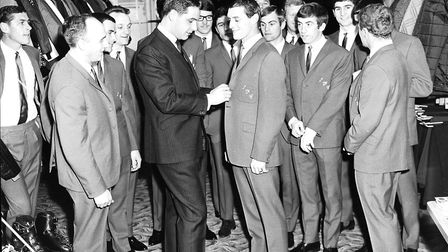 Ipswich Town players get fitted out with suits at Coes