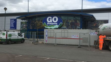 Go Outdoors is taking shape at the Anglia Retail Park.