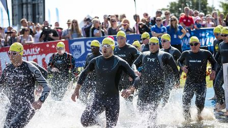 Swimmers take on last year's Great East Swim to raise money for charity