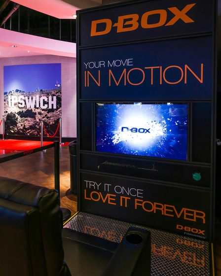 A demo D-Box seat is available to try in the foyer of Empire Cinema in Ipswich.Picture:STEPHEN WAL
