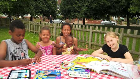 Youngsters enjoyed storytime at the Great Get Together. Picture: GAINSBOROUGH LIBRARY
