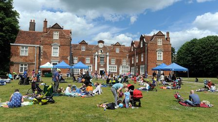 The Teddy Bears Picnic event in 2015, before Christchurch Mansion was renovated. Picture: PHIL MORLE