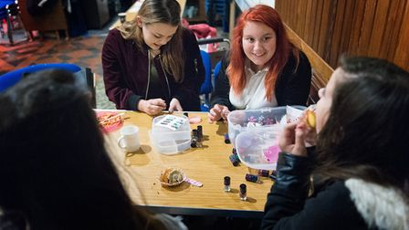 Youngsters at the Porch Project in Hadleigh, which supports youngsters aged 11-20. Picture: SIMON LE