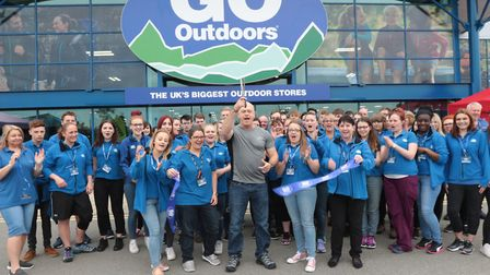 Actor Ross Kemp opens the new GO Outdoors store at Anglia Retail Park in Ipswich. Picture: GARY DONN