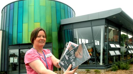 Manager Mandy Grimwood outside Gainsborough Library in Ipswich, which will be taking part in the Gre