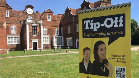 The campaign set up in front of the Christchurch Mansion to bring fly tipping to an area that you wo