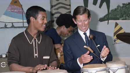 Prince Charles on a visit to Ipswich, visiting the Caribbean Association