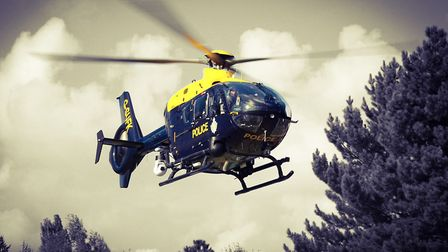The Suffolk police Helicopter. Picture: KRIS PAGE
