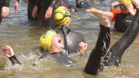 Having fun at the Great East Swim at Alton Water . Picture: SEANA HUGHES