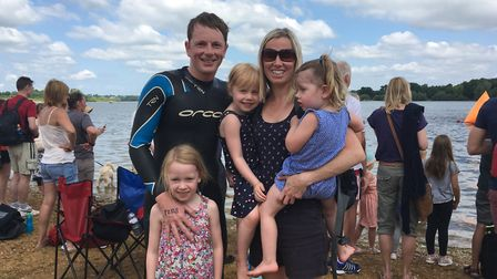 Paul Berry from Ipswich with wife Charlotte and daughters Tess, six, Hettie, four, and Emily, two. P