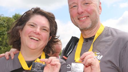 Eve and Tom Mc Conville with their medals. Picture: SEANA HUGHES