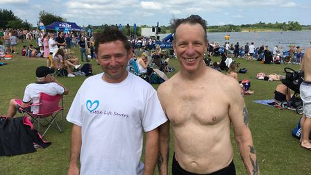 Mark Parrot, from Burgess Hill, and Dean Martin, from Crawley, travelled up from West Sussex to take