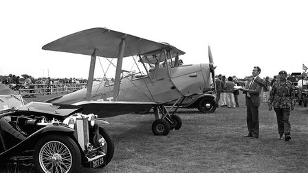 Just one of the Biplanes that was amongst the collection on display