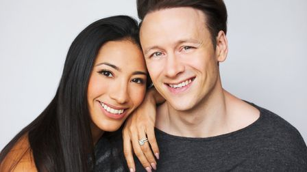 Strictly Come Dancing stars Karen and Kevin Clifton. Picture: CHRISTOPHER MANN