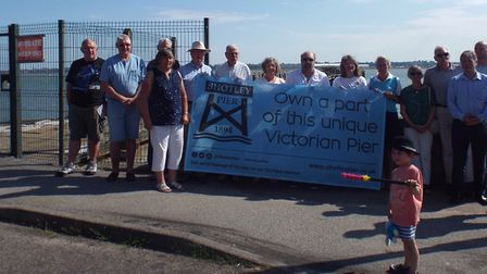 The Shotley Heritage Community Benefit Society has launched the Shotley Pier share scheme. Picture: